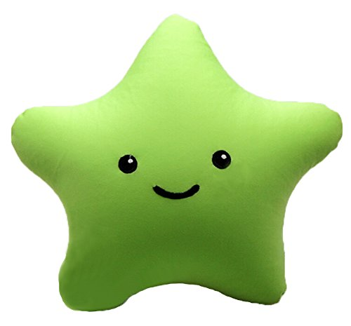 Harvest Super Mario Brothers Cute Smiley Face Star Pillow 8″ Plush Green