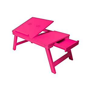 Onlineshoppee wooden high quality foldable laptop table for 12 inch high table