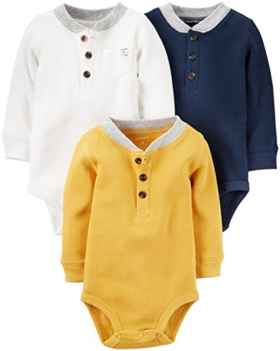 Carter's Baby Boys Multi-Pack Bodysuits, Assorted, New Born
