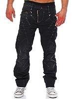 Cipo & Baxx Jeans Hose schwarz/blau straight