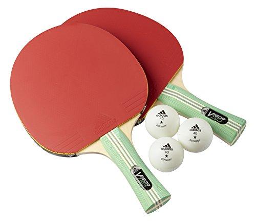 adidas Tischtennis - Schläger Set Vigor 150, Rot/Schwarz/Grün, One size, AGM-14495