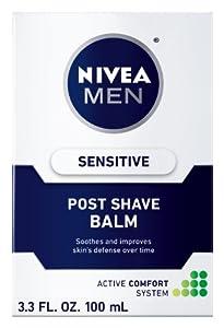 Nivea for Men Sensitive Post Shave Balm, Active Comfort System, 3.3-Ounce Bottles (Pack of 4)