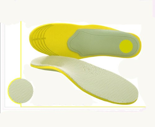 SturdyFoot Sports Orthotic Arch Support Insoles- Foot Arch Ankle Knee & Back Pain Support