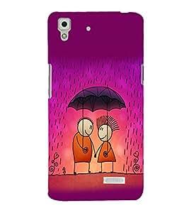 printtech Love Couple Raining Back Case Cover for Oppo R7