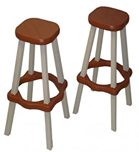 Leisure Accents Barstool Set (2/Carton), Portabello/Beige, 26 Inches Tall