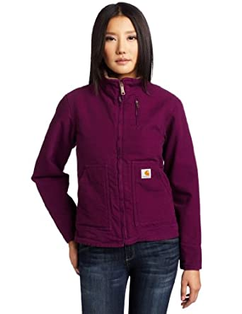 Carhartt Women's Canyon Sandstone Duck Jacket, Bright Purple, X-Small