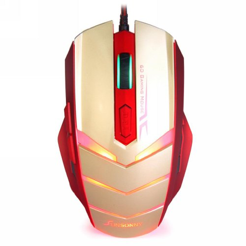 Qisan Tm50 Usb Wired 6 Button 1600Dpi Led Red Light Gaming Mouse