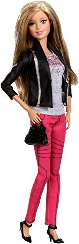 Barbie Style Doll, Black and Silver Jacket by Barbie
