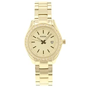 Fossil Women's ES3107 Stainless Steel Analog Gold Dial Watch