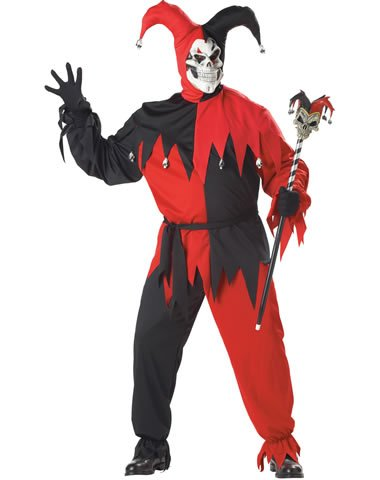 California Costume Collection Mens Evil Jester Adult Plus Costume