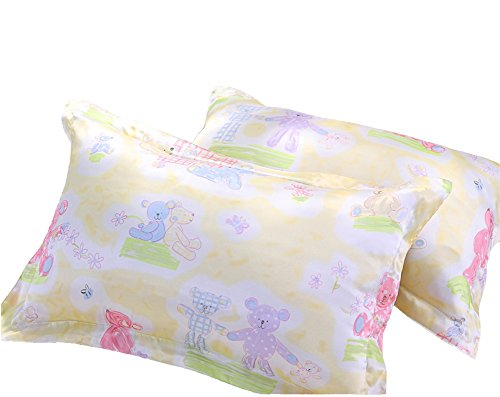 Forever Angel Baby/Toddler 100% Pure Silk Cartoon Printed Pillowcase Size 10X18