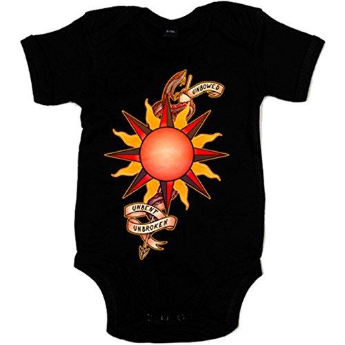 body-bebe-juego-de-tronos-martell-unbowed-unbent-unbroken-negro-6-12-meses