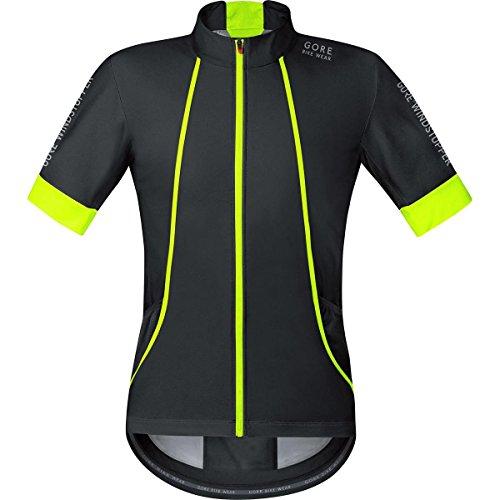 Gore Bike Wear SMWOXY990804 Maglia Uomo Ciclismo su strada, Maniche corte, GORE Selected Fabrics, OXYGEN WINDSTOPPER Soft Shell, Taglia M, Nero/Giallo