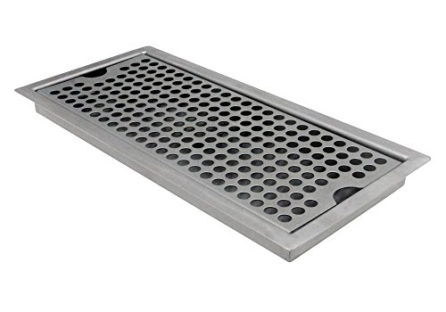Kegco SEDP-220D Beer Drip Tray Stainless Steel Flush Mount Drip Tray w/ Drain (Drip Trays Beer compare prices)