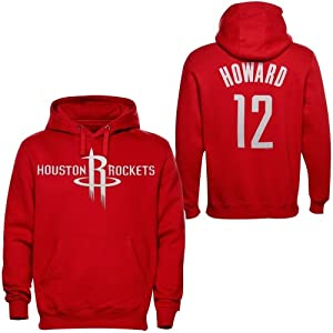 Majestic Dwight Howard Houston Rockets Name & Number Pullover Hoodie - Red by Majestic