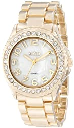 XOXO Women's XO5561 Gold-Tone Bracelet Analog Watch