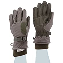 "Ansell ActivArmr 46-451 Goatskin Intermediate Cold Wet Combat and Utility Glove, Chemical Resistant, Fleece Wrist Cuff, 12"" Length, Large, Folliage Green (1 Pair)"