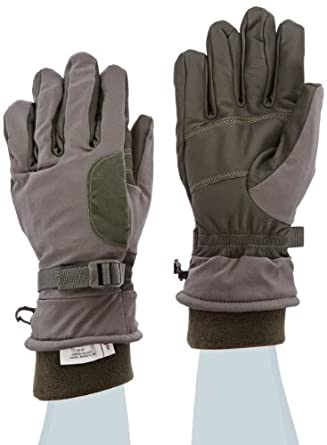 """Ansell ActivArmr 46-451 Goatskin Intermediate Cold Wet Combat and Utility Glove, Chemical Resistant, Fleece Wrist Cuff, 12"""" Length, Large, Folliage Green (1 Pair)"""