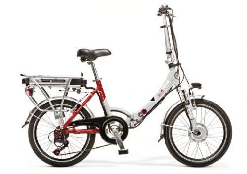 WORLD DIMENSION ELEKTROFAHRRAD Faltrad ELECTRIC BIKE ECOBEND 26'' 6S SILBER / BORDEAUX