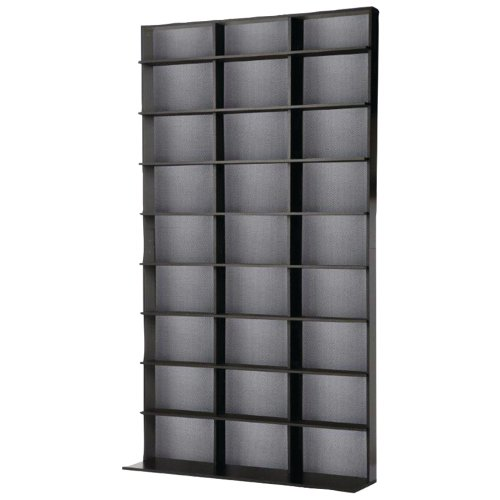 Atlantic 35435725 Media Tower Elite Large 837 CD or 630 BluRay (Black) (Media Cabinets compare prices)