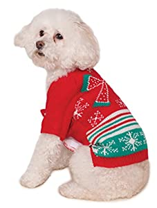 Rubies Costume Xmas Ugly Sweater with Bow, Small