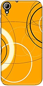 The Racoon Grip Mad Circles hard plastic printed back case/cover for Htc Desire 830