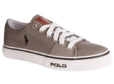 Polo Ralph Lauren Men's Cantor Low Sneaker,Grey/Grey,10.5 D US