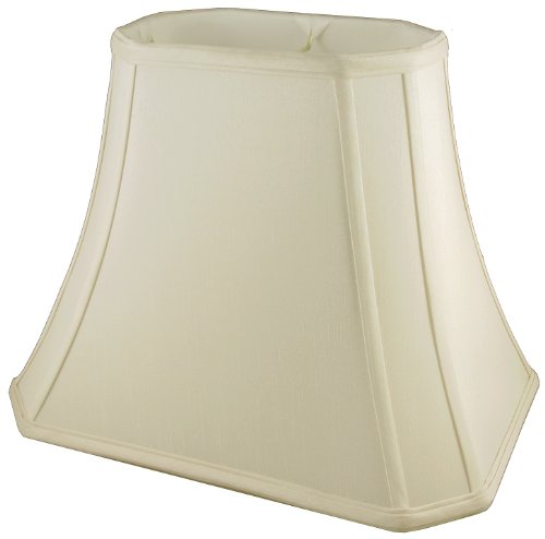 American Pride Lampshade Co. 05-78095418 Rectangle Soft Tailored Lampshade, Shantung, Eggshell