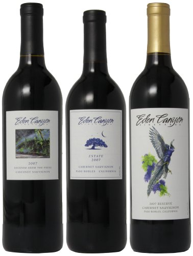 Eden Canyon Vineyards 2007 Mixed Pack, 3 X 750 Ml