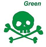 Amazon.co.jp骸骨ステッカー スカル ガイコツ ドクロ 頭骨 スケルトン 緑 カッティングステッカー