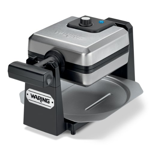 Waring Pro WMK250SQ 4-Slice Belgian Waffle Maker, Stainless Steel/Black (Waring Waffle Maker Wmk200 compare prices)