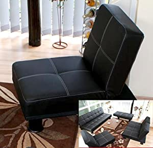 fauteuil canap convertible melbourne simili cuir noir cuisine maison. Black Bedroom Furniture Sets. Home Design Ideas