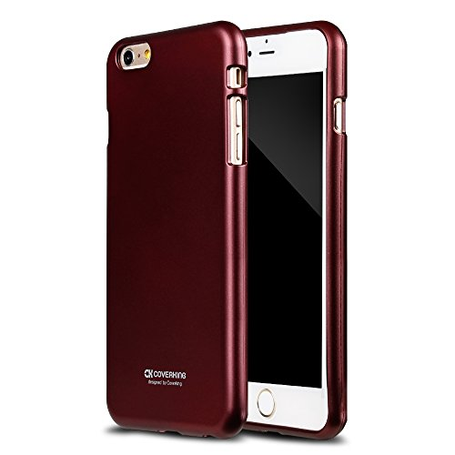 coverking Apple Iphone 6 Plus/6S Plus - Wine [Iron Jelly] Metal Feeling TPU Case, Shock Absorbent, Anti Fingerprint, Anti-Scratch (Wine Iphone 6 Case compare prices)