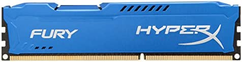HyperX Fury - Memoria RAM de 8 GB (1600 MHz DDR3 Non-ECC CL10 DIMM), Color Azul