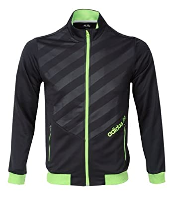 Adidas Golf 2013 Mens FP Full Zip 3-Stripes Layering Jacket - Black - XL