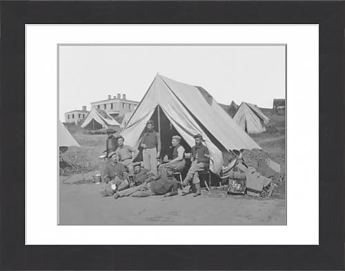 framed-print-of-22nd-new-york-volunteer-infantry-at-their-camp-during-the-american-civil-war