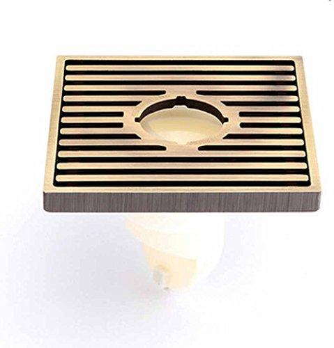 CU Drains de plancher de salle de bain mode moderne antique bronze drain continental fil de cuivre et résistant à l'odeur machine à laver vidange