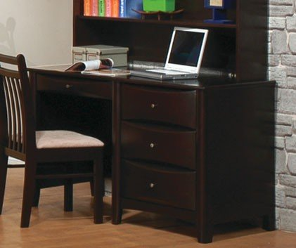 Buy Low Price Comfortable Computer Desk Contemporary Style in Cappuccino Finish (B003MBDQ00)