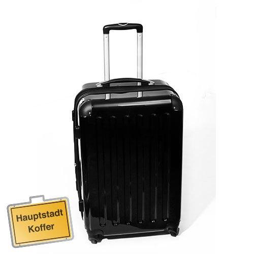 Hartschalen Koffer Schwarz Hochglanz max.87 L