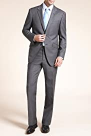 Big & Tall Pure Wool 2 Button Suit [T15-0829L-S/T15-0830L-S]