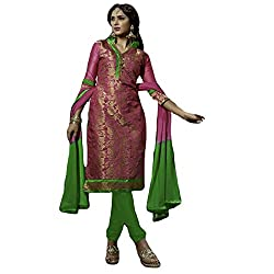 Typify Women's Chanderi Unstitched Dress Material (TYPIFY266_Multicolor_Free Size)