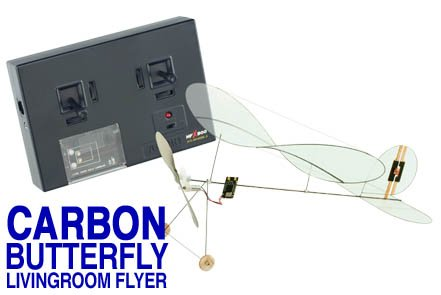 Micro Flight Airplane Carbon Butterfly Livingroom Flyer Ready-To-Fly Set