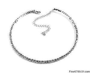 1-Row Rhinestone Collar Choker Prom Bridesmaid Wedding Necklace