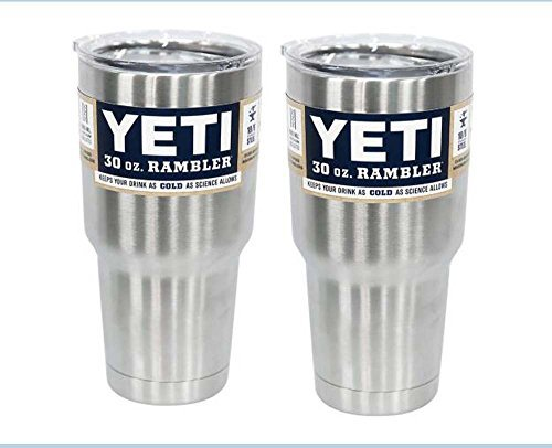 2 Pack - YETI 30 Ounce Rambler Tumbler Stainless Steel Cup with Lid