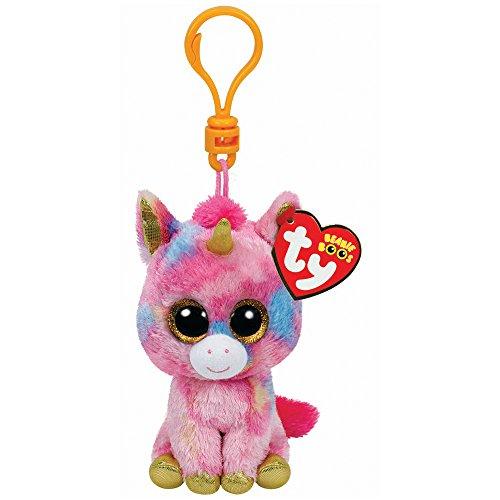 Ty Beanie Babies Fantasia - Multicolor Unicorn Clip - 1