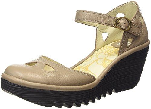 Fly LondonYUNA - Zapatos de Tacón mujer , color Beige, talla 39