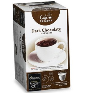Cafe Escapes Dark Chocolate Hot Cocoa K-Cups, K-Cups for Keurig Brewers, 16 pack