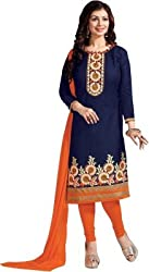 Lakshmi Fashion Creation Women's Cotton Dress Material ( Blue )