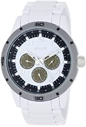 Sprout Unisex ST3201WTWT  Multi-Function Dial and White Corn Resin Bracelet Watch