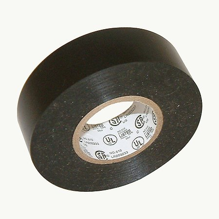 JVCC EL7566-AW Synthetic Rubber Premium Grade Electrical Tape, 66′ Length x 1″ Width, Black